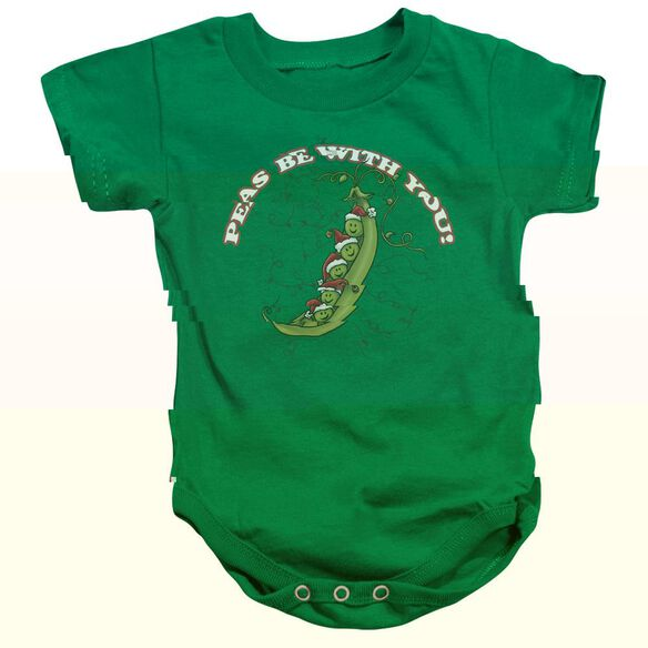 Peas Be With You - Infant Snapsuit - Kelly Green - Sm