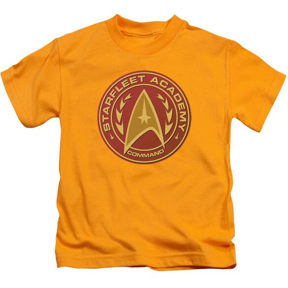 Star Trek Command Short Sleeve Juvenile Gold T-Shirt