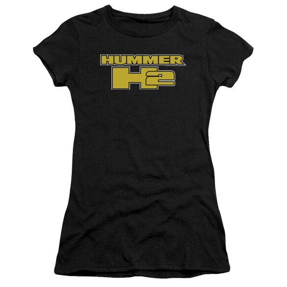 Hummer H2 Block Logo Short Sleeve Junior Sheer T-Shirt