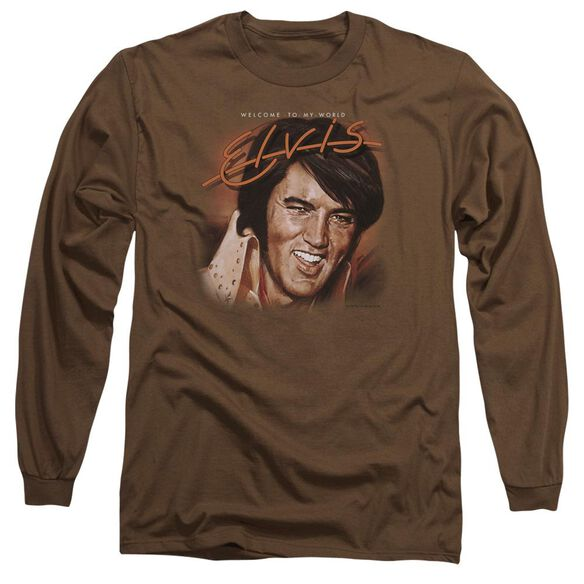 Elvis Presley Welcome To My World Long Sleeve Adult T-Shirt