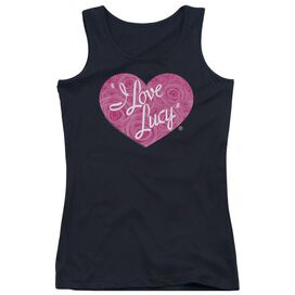 I Love Lucy Floral Logo Juniors Tank Top