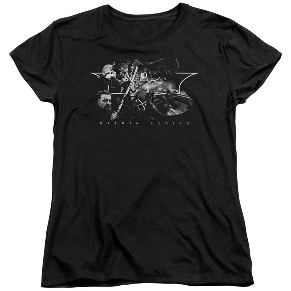 Batman Begins Night Natives Short Sleeve Womens Tee Black T-Shirt