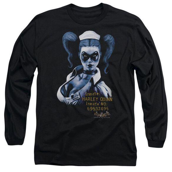 Batman Aa Arkham Harley Quinn Long Sleeve Adult T-Shirt