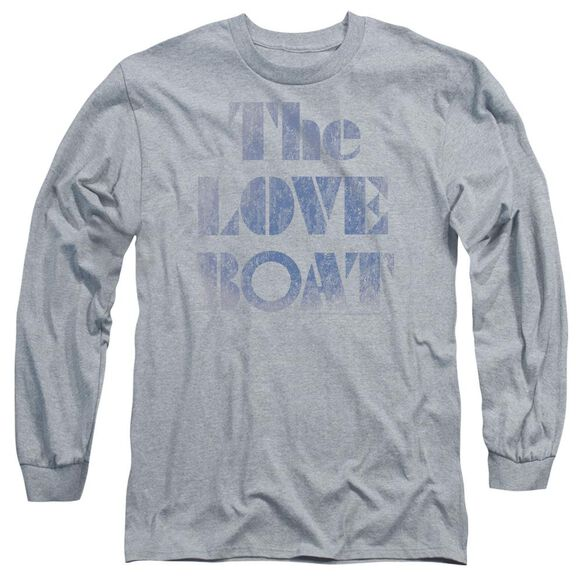 Love Boat Distressed Long Sleeve Adult Athletic T-Shirt