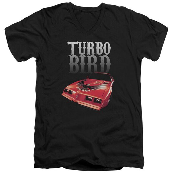 Pontiac Turbo Bird Short Sleeve Adult V Neck T-Shirt