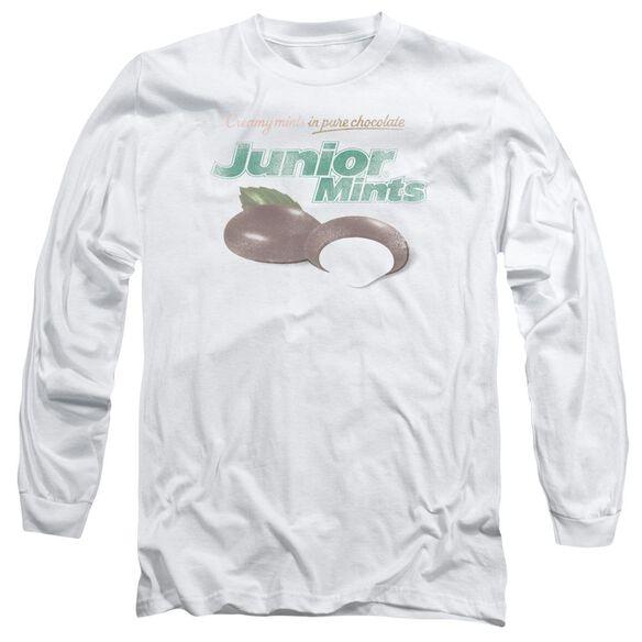 Tootsie Roll Junior Mints Logo Long Sleeve Adult T-Shirt