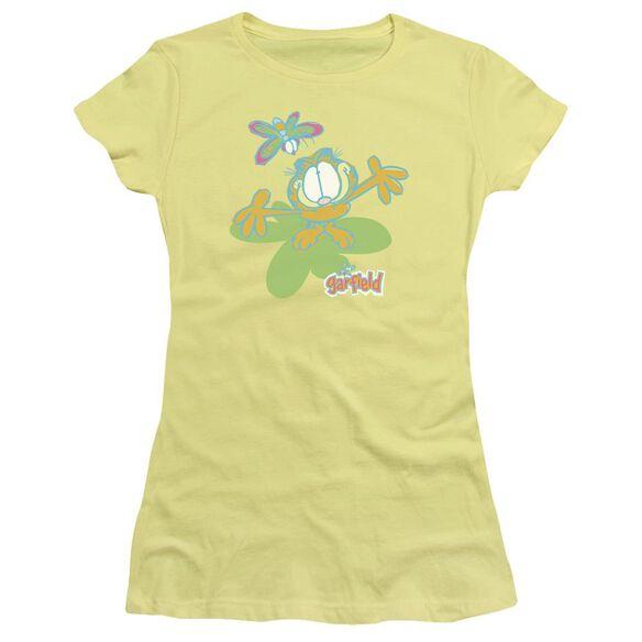 Garfield Butterfly Short Sleeve Junior Sheer T-Shirt