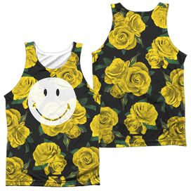Smiley World Rosey Smile (Front Back Print) Adult Poly Tank Top