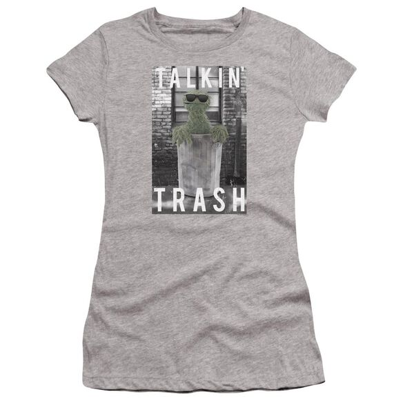Sesame Street Talkin Trash Hbo Short Sleeve Junior Sheer Athletic T-Shirt