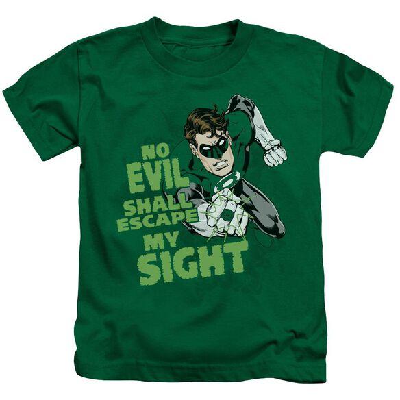 Green Lantern No Evil Short Sleeve Juvenile Kelly Green T-Shirt