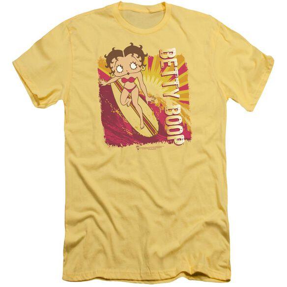 Betty Boop Sunset Surf Short Sleeve Adult T-Shirt