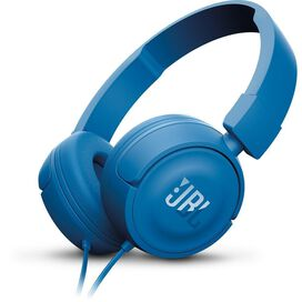 JBL T450 On‑Ear Headphones with Mic Blue