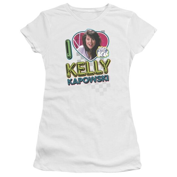 Saved By The Bell I Love Kelly Short Sleeve Junior Sheer T-Shirt