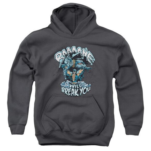 Batman Bane Will Break You Youth Pull Over Hoodie