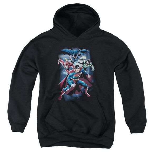 Jla Cosmic Crew Youth Pull Over Hoodie