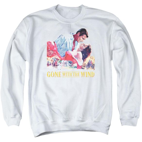 Gone With The Wind On Fire Adult Crewneck Sweatshirt