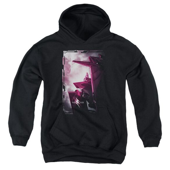 Power Rangers Pink Zord Poster Youth Pull Over Hoodie