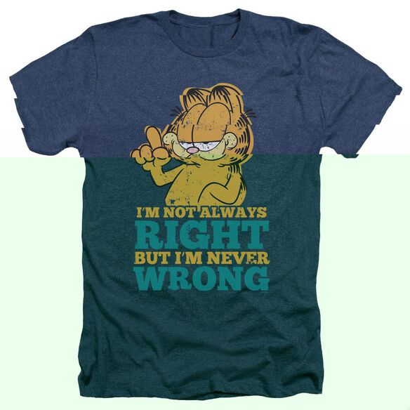 Garfield Never Wrong - Adult Heather - Navy