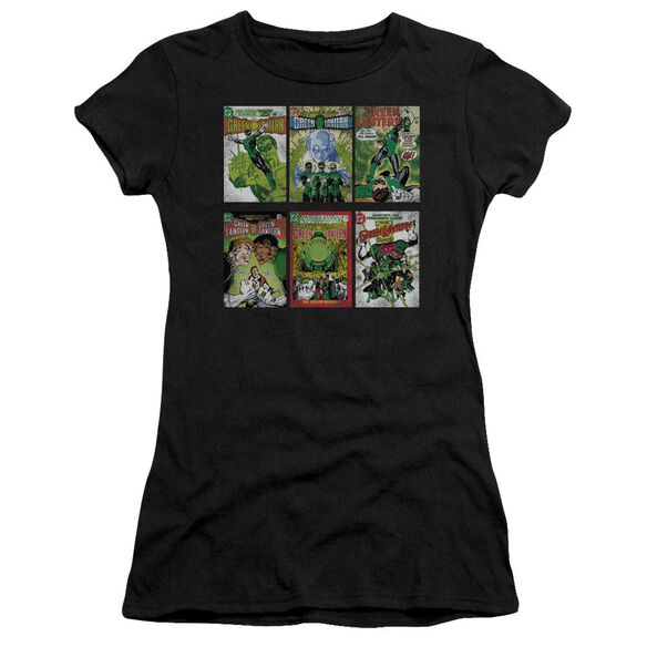 Green Lantern Gl Covers Short Sleeve Junior Sheer T-Shirt
