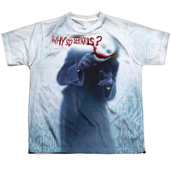 Dark Knight Why Short Sleeve Youth Poly Crew T-Shirt