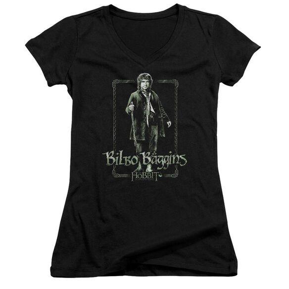 The Hobbit Bilbo Stare Junior V Neck T-Shirt