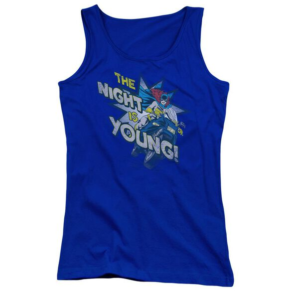 Dc The Night Is Young Juniors Tank Top Royal
