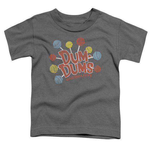 Dum Dums Original Pops Short Sleeve Toddler Tee Charcoal T-Shirt