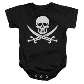 Jolly Roger - Infant Snapsuit - Black - Lg