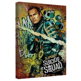 Suicide Squad Slipknot Psychedelic Cartoon Canvas Wall Art With Back Board