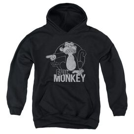 Family Guy Evil Monkey-youth Pull-over Hoodie - Black