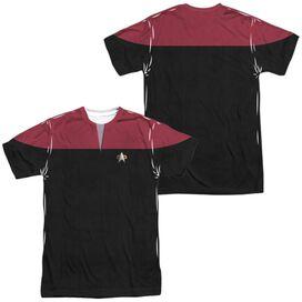 STAR TREK VOYAGER COMMAND UNIFORM (FRONT/BACK PRINT)-S/S ADULT T-Shirt