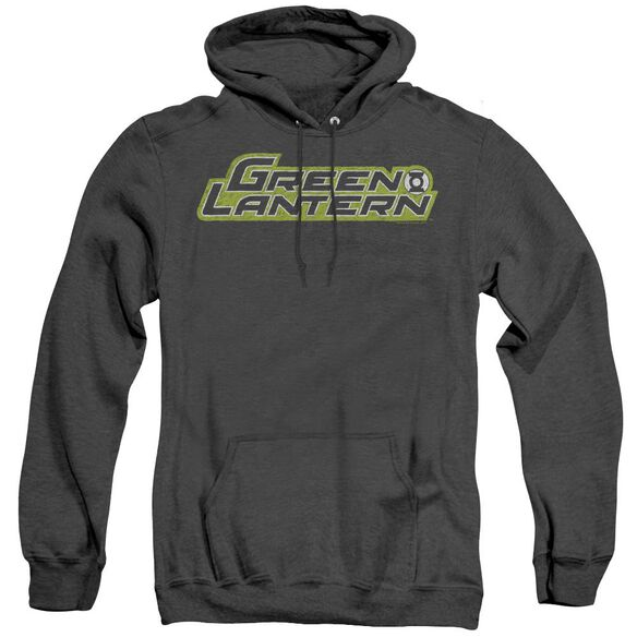 Green Lantern Scribble Title - Adult Heather Hoodie