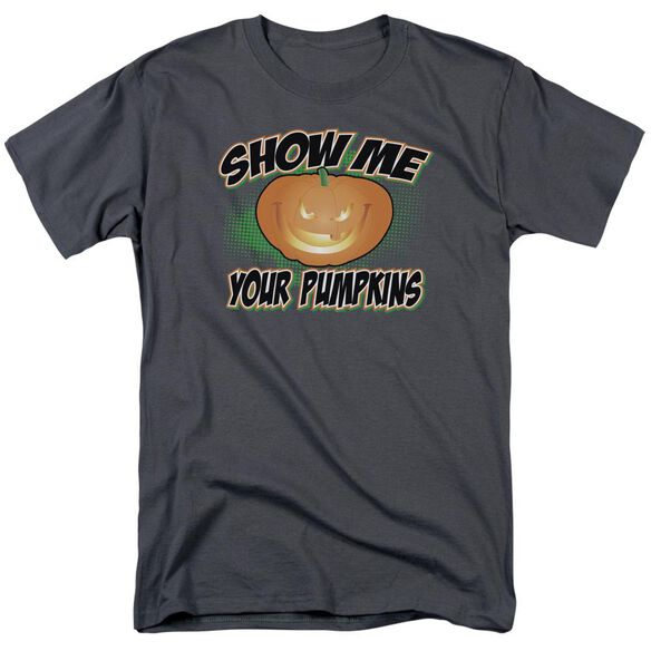 Show Me Short Sleeve Adult Charcoal T-Shirt