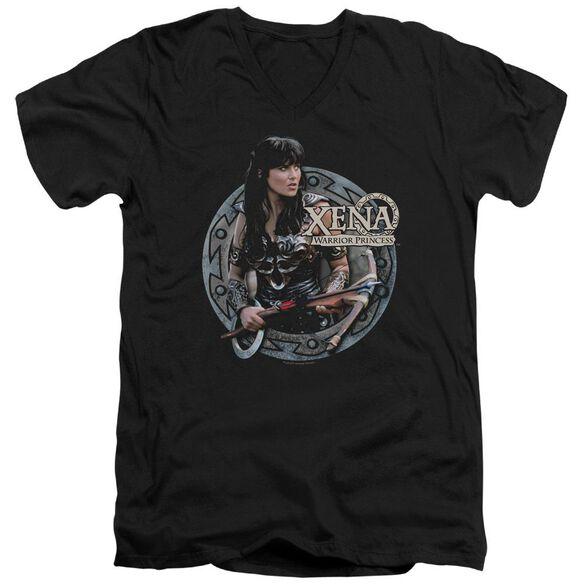 Xena The Warrior Short Sleeve Adult V Neck T-Shirt