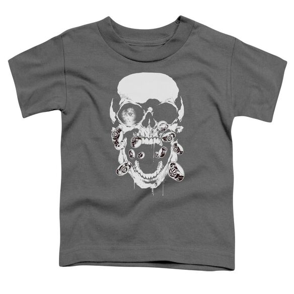 Green Lantern Black Lantern Skull Short Sleeve Toddler Tee Charcoal Lg T-Shirt