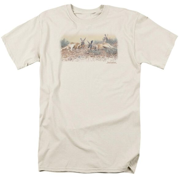 Wildlife Laid Back In The Outback Short Sleeve Adult Cream T-Shirt