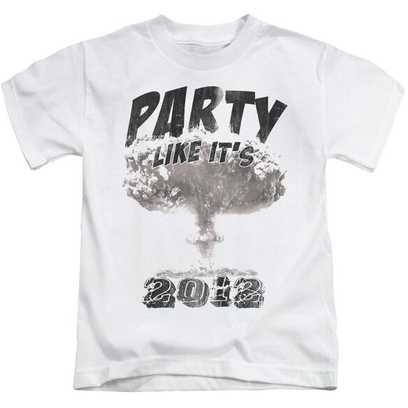 Party Like It's 2012 Short Sleeve Juvenile White T-Shirt