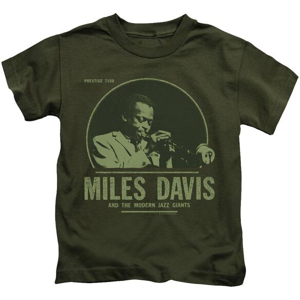 Miles Davis The Green Miles Short Sleeve Juvenile Military Green Md T-Shirt