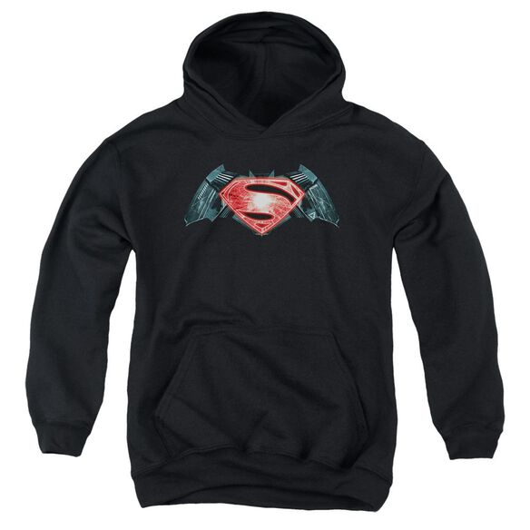 Batman V Superman Industrial Logo Youth Pull Over Hoodie