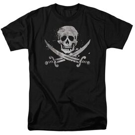 Distressed Jolly Roger Short Sleeve Adult T-Shirt