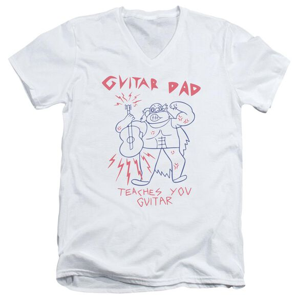 Steven Universe Guitar Dad Short Sleeve Adult V Neck T-Shirt