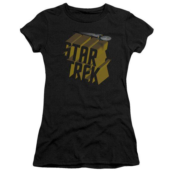Star Trek 3 D Logo Premium Bella Junior Sheer Jersey