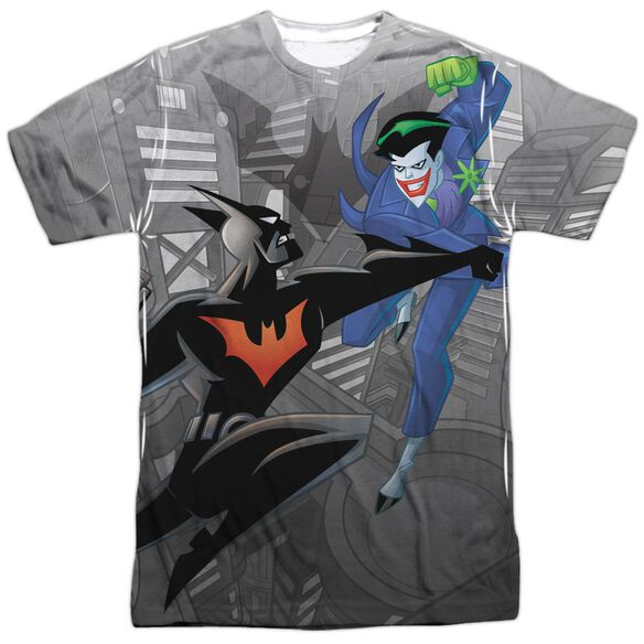 Batman Beyond Baddie Battle Short Sleeve Adult Poly Crew T-Shirt