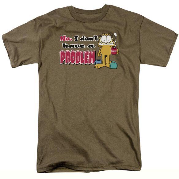 GARFIELD NO PROBLEM - S/S ADULT 18/1 - SAFARI GREEN T-Shirt