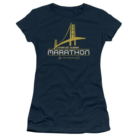 Star Trek Marathon Logo Short Sleeve Junior Sheer T-Shirt