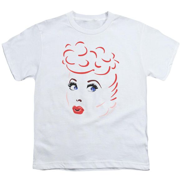 I Love Lucy Lines Face Short Sleeve Youth T-Shirt