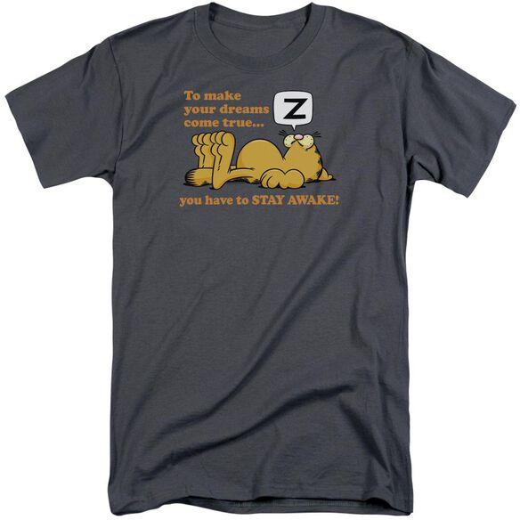 Garfield Stay Awake Short Sleeve Adult Tall T-Shirt