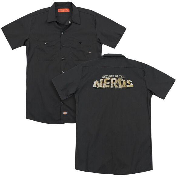 Revenge Of The Nerds Logo(Back Print) Adult Work Shirt