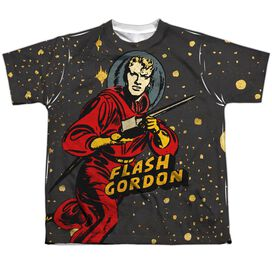 Flash Gordon Blast Off Short Sleeve Youth Poly Crew T-Shirt