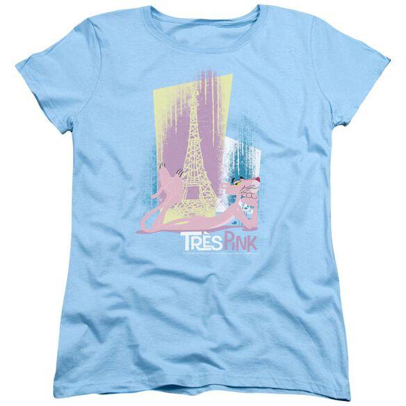 Pink Panther Tres Pink Short Sleeve Women's Tee Light T-Shirt
